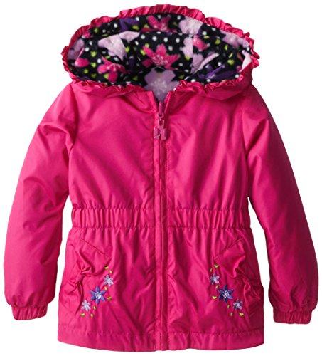 London Fog Little Girl's Reversible Midweight Jacket, Pink, 2T