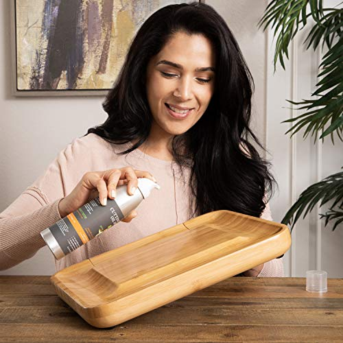 Beautiful Bamboo Cheese Board & Knife Set | Natural, Eco-Friendly & Elegant Cheese Platter Charcuterie Gift Set | Exclusive Cheeseboard With 4 Cheese Knives & Conditioning Oil Spray | Luxury Gift Idea by Greener Chef (Image #2)