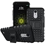 LG K20 Plus Case, LG K20 V Case, LG Harmony Case, LG Grace LTE Case, OEAGO [Shockproof] Tough Rugged Dual Layer Protective Case with Kickstand for LG K20 Plus / K20 V / Grace LTE / Harmony - Black