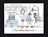 Optometrist Personalized Gift Custom Cartoon Print 8x10, 9x12 Magnet or Keychain