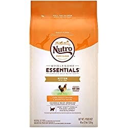 NUTRO WHOLESOME ESSENTIALS Kitten Farm-Raised Chicken & Brown Rice Recipe 3 Pounds