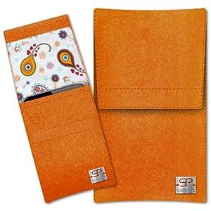 SIMON PIKE Cáscara Funda de móvil Sidney 10 naranja Samsung E1182 Fieltro de lana