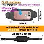 AIKENDO iPhone Running Pouch Belt,Adjustable Fitness Workout Running Fanny Pack Men & Women for iPhone X XR XS 8Plus,Bounce Free Sports Waist Pack Bag,Phone Holder for Running,Jogging,Gym,Travelling