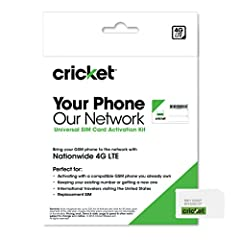 At Cricket Wireless, we make joining our nationwide 4G LTE network quick and easy. All you have to do is follow the step-by-step instructions provided to replace the SIM card in your current, unlocked compatible phone with our 3-in-1 SIM Card...