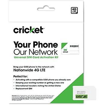 Amazon com: Cricket Wireless Prepaid Universal SIM Card Kit: Cell