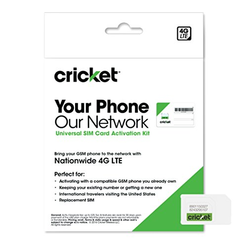 Cricket Wireless Complete Starter Pack: Nano SIM Card with Standard & Micro Adapters Image