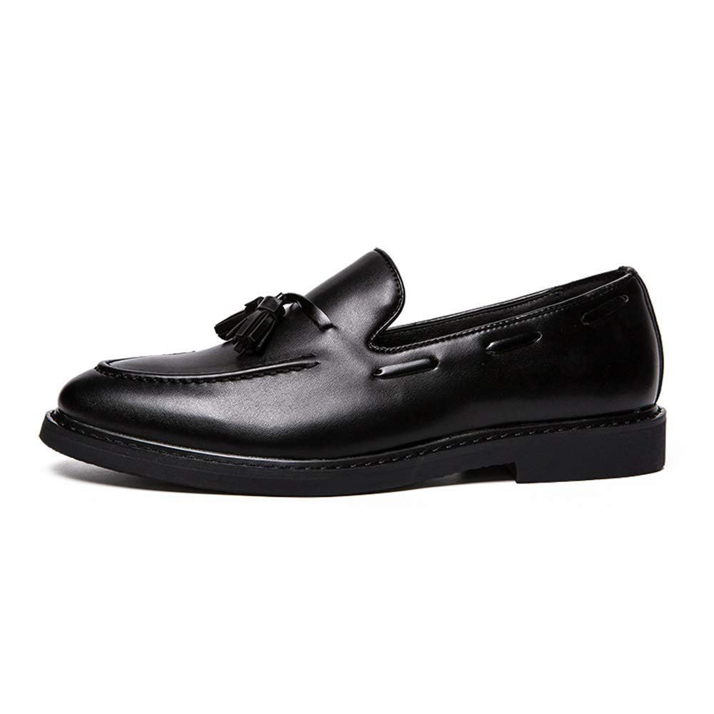 Ofgcfbvxd Mocasines Planos Casuales para Hombres Juegos de Caracteres con Flecos Gruesos de Oxford de Negocios, Zapatos para pies (Charol es Opcional) para ...