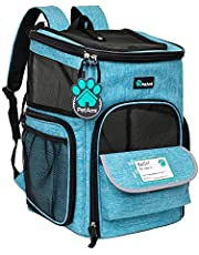 PetAmi Pet Carrier Backpack for Small Cats, Dogs, Puppies   Airline Approved   Ventilated, 4 Way Entry, Safety and Soft Cushion Back Support   Collapsible for Travel, Hiking, Outdoor
