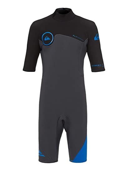 c4aab5b214 Quiksilver 2 2mm Syncro Series - Short Sleeve Back Zip FLT Springsuit for Boys  8-16  Quiksilver  Amazon.co.uk  Clothing