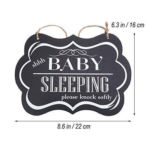 Baby Sleeping Please Knock Softly Baby Sleeping Door Sign Hanging Plaques