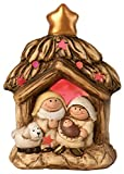 Boston International Adorable Nativity Home Decor, Holy Family with LED Manger and Star