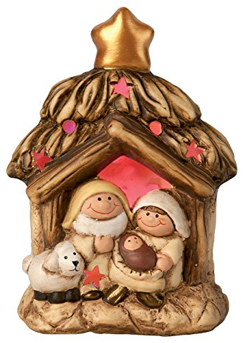 Outdoor Lighted Manger Set - 9