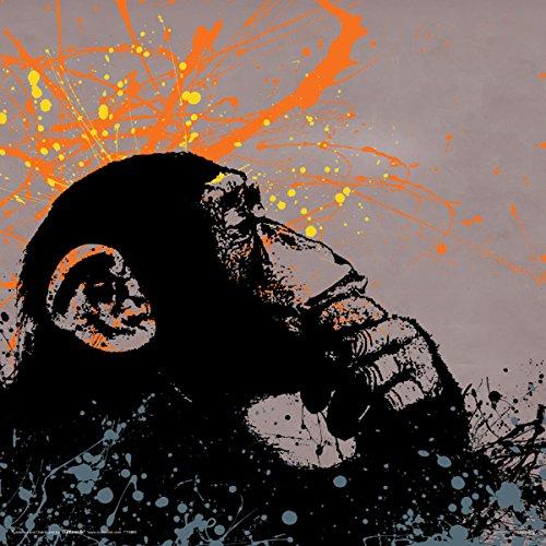 Culturenik Banksy Monkey Decorative Graffiti Urban Animal Art Poster Print, Rolled 12 by 12