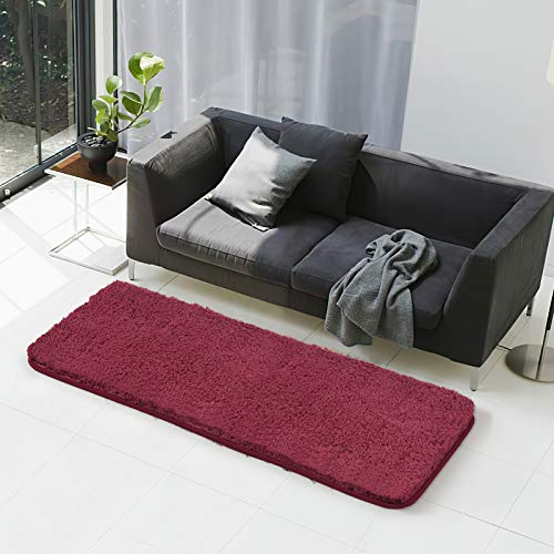 Bath Rug COSY HOMEER Non Slip Soft Thickness Shaggy Water Absorbent Bathroom Carpet,Machine Washable Runner Mats for Floor