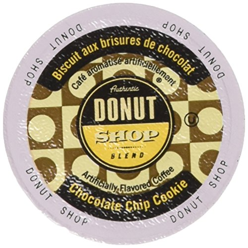 Authentic Donut Shop Blend Chocolate Chip Cookie Single Cup Coffee for Keurig K Cup Brewers 24Count