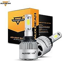 Auxbeam LED Headlights F-S2 Series 9006 HB4 HB4U LED Headlight Bulbs with 2 Pcs of Led Headlight Bulb Conversion Kits 72W 8000LM Bridgelux COB Chips Fog Light - 1 Year Warranty