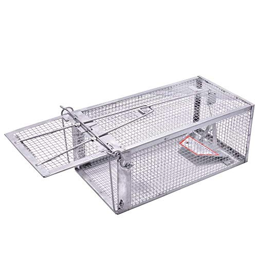 (JGRZF Trap Chipmunk Trap 1 Door Humane Live Animal Mouse Cage Rat Mouse Mice Traps for Small Rodent Animals, for Indoor and Outdoor 10.6 X 5.63 X 4.33 Inches)