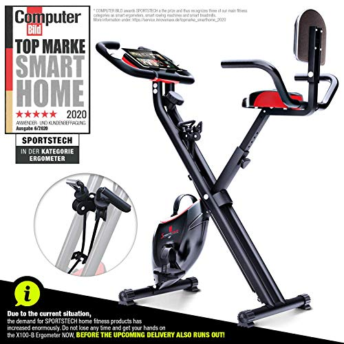 Sportstech Fitness Exercise Bike with LCD Console & Pull Strap System   German Quality Brand   Exercise Bike with…