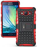 Heartly Flip Kick Stand Spider Hard Dual Rugged Armor Hybrid Bumper Back Case Cover For Samsung Galaxy A5 2015 SM-A500F - Hot Red