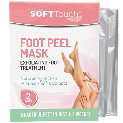 Soft Peel (Soft Touch Foot Peel Mask, Exfoliating Callus Remover (2 Pairs Per Box))