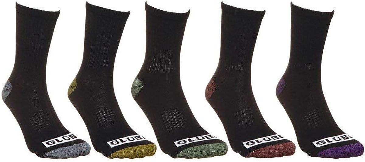 Globe Romney 5 Pack Mens Crew Socks