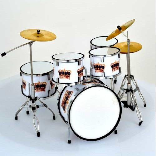 Batteria in miniatura - Mini drum - Replica Pearl QUEEN'S CROWN Eurasia1 srl