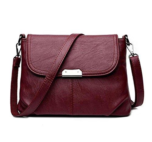 NVBAO Borsa a tracolla di modo delle signore sacchetto di spalla del sacchetto della borsa di diagonale della borsa del turismo quattro colori, bronze wine red