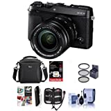 Fujifilm X-E3 Mirrorless Camera W/XF 18-55mm f/2.8-4 R LM OIS Zoom Lens, Black - Bundle With Camera Case, 16GB SDHC U3 Card, 55mm UV Filter, Cleaning Kit, Memory Wallet, Card Reader, SoftwarePackage