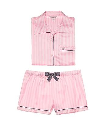 25c59205c6438 Victoria's Secret Women's Pyjama Satin Boxer PJ 2-Piece Afterhours ...