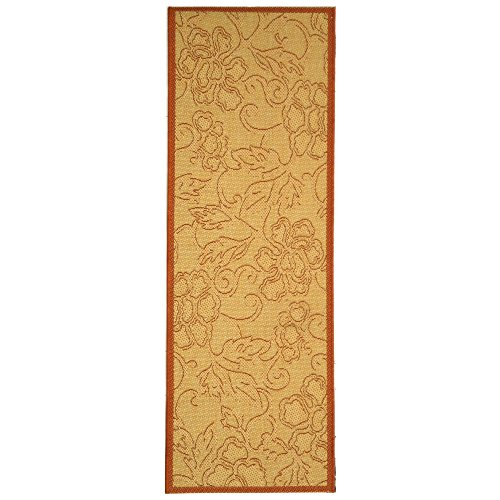 Safavieh Courtyard Collection CY2726-3201 Natural and Terra Indoor/ Outdoor Runner (2'3