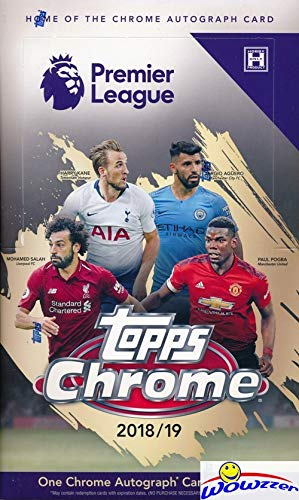 2018/2019 Topps CHROME English Premier League Soccer Factory Sealed HOBBY Box with AUTOGRAPH & 72 Cards! Look for Autos of Kevin De Bruyne, Jorginho, Mesut Ozil, Riyad Mahrez, Dele Ali & More! WOWZZER
