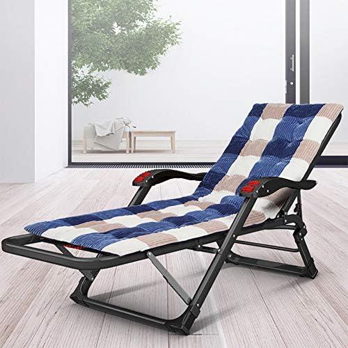 Chaise longue de jardin pliante et inclinable - Portable et multifonction