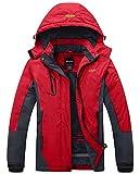 Wantdo Women's Waterproof Mountain Jacket Fleece Ski Jacket, Large, Red