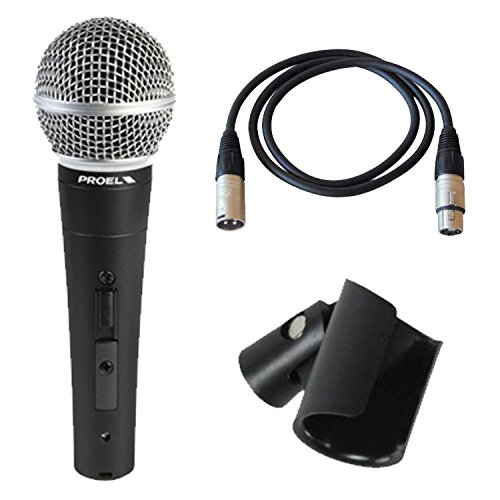 4 opinioni per PROEL DM580LC microfono dinamico cardioide switch on/off per voce, canto,
