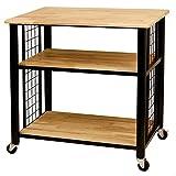 Cheap Catskill Craftsman Wood 3-shelf Kitchen Cart