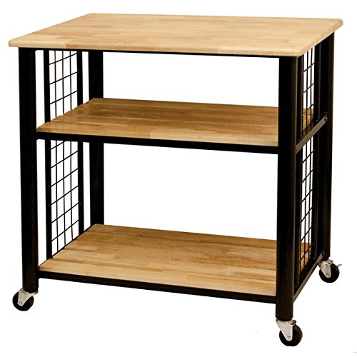 Catskill Craftsman Wood 3-shelf Kitchen Cart by Catskill