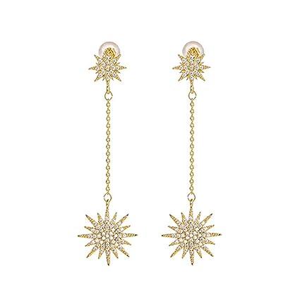YOYOYAYA Aretes Colgantes Estrella Agua Diamantes Ornamentos Femeninos Niñas Delicias Partes Fechas Elegancia Regalos