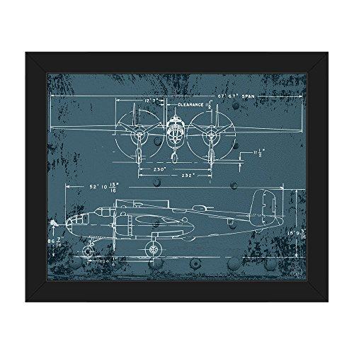 vintage airplane blueprint - 3