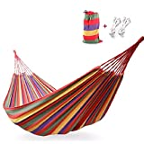 Features: Material: High-density Fine fabric Canvas Easy fixing, just fix the hammock with 2 binding strings and tie the strings to trees or poles Easy to carry and pack Every string is weaved together with it's neighbor one so that the pressure one ...