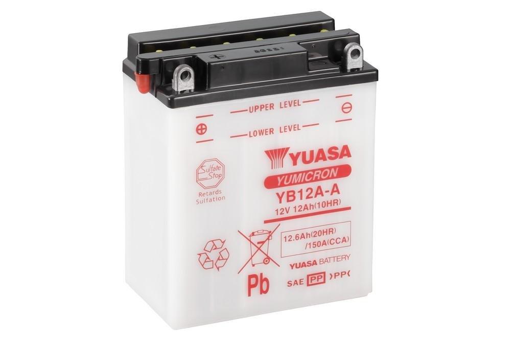 YUASA - BATTERIA YB12A-A - L135xl81xH161 (Supplied without acid) Yuasa Battery