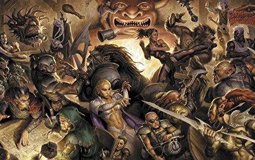 Tomorrow sunny 24X36 INCH / ART SILK POSTER / DUNGEONS AND DRAGONS fantasy adventure board rpg dungeons dragons - Dragon Large Poster