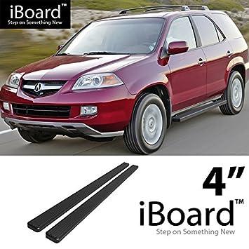 """iBoard Running Boards 4/"""" Matte Black Fit 03-08 Acura MDX//Honda Pilot"""
