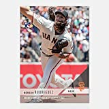 DERECK RODRIGUEZ GIANTS ROOKIE EARNS WIN IN 1st CAREER START TOPPS NOW CARD #287 + TOPLOADER
