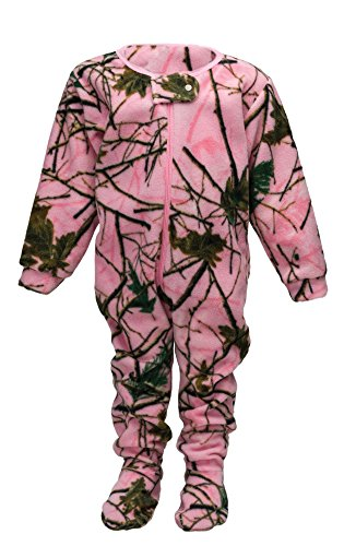 (Infant Camo One Piece Footed Fleece Crawler, 18-24 Months, Pink)