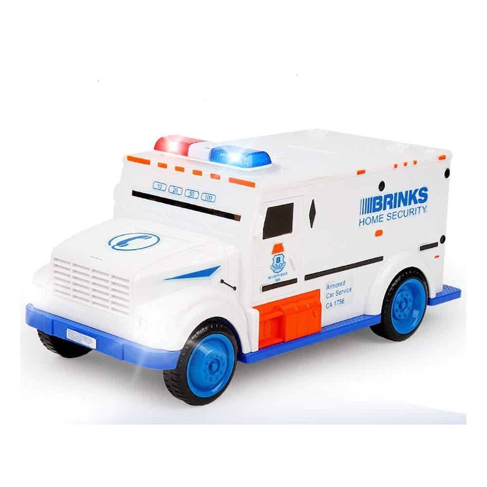 Creative Cash Truck Piggy Bank Safe Password Car Piggy Bank Digital Kids Toy Rolling Automatically Money Box Saving Deposit Boxes Electronic Enfant Children Cash Coin