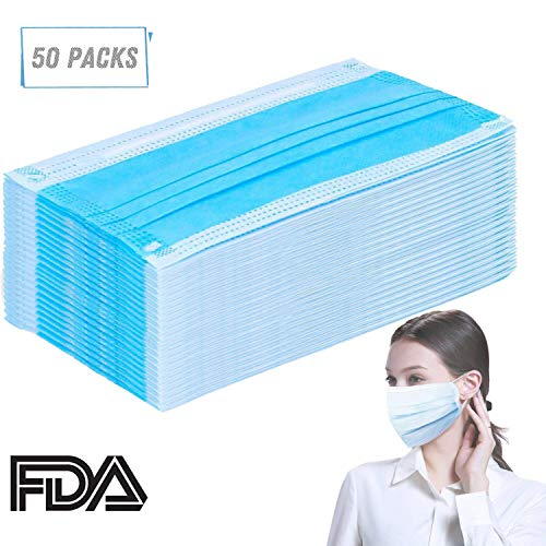 ce Masks (3-PLY) Disposable Premium Earloop Face Masks, for Medical Grade, Surgical, Dental, Allergy,Laboratory ()