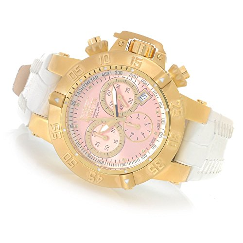 Invicta Women's Subaqua Noma III Swiss Made Quartz PINK Chronograph Leather Watch
