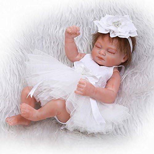iCradle 26cm 10inch Mini Lovely Cute Realistic Lifelike Full Silicone Vinyl Body Sleeping Reborn Baby Doll Girl
