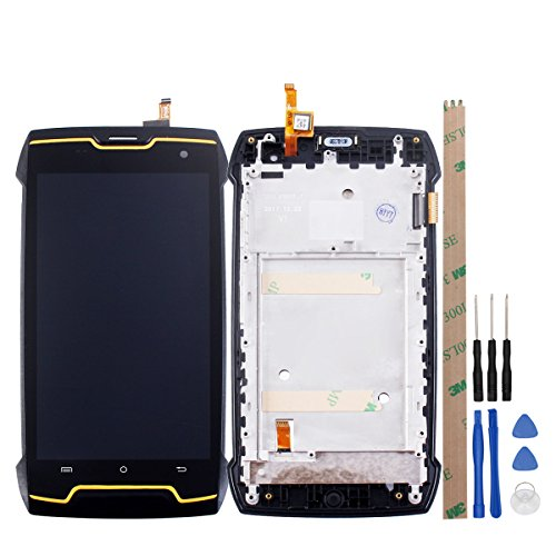 HYYT for Cubot King Kong LCD Digitizer Screen and Touch Screen Assembly Black Frame+Free Tools (Black)