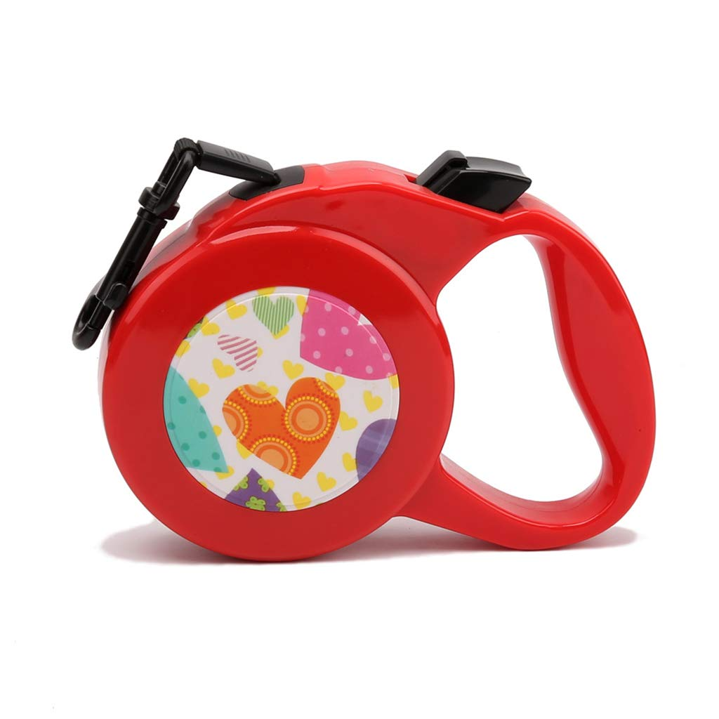 Red 8m round rope Red 8m round rope QIQI-PET Pet Traction Rope Retractable Dog Leash Pet Supplies for Small Medium and Large Sized Dog Outdoor Walking (color   Red, Size   8m Round Rope)